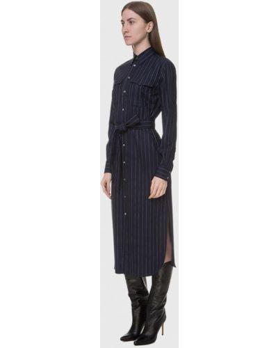 Синее платье-рубашка Polo Ralph Lauren