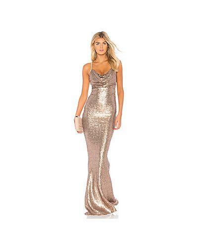 Вечернее платье с декольте с драпировкой Nookie