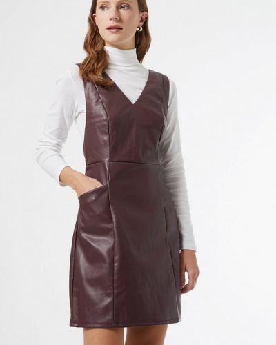 Фиолетовое кожаное платье Dorothy Perkins