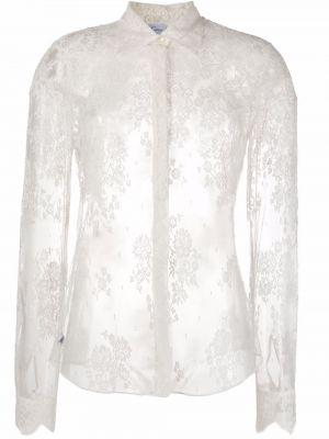 Кружевная рубашка с длинным рукавом с воротником на пуговицах Carine Gilson