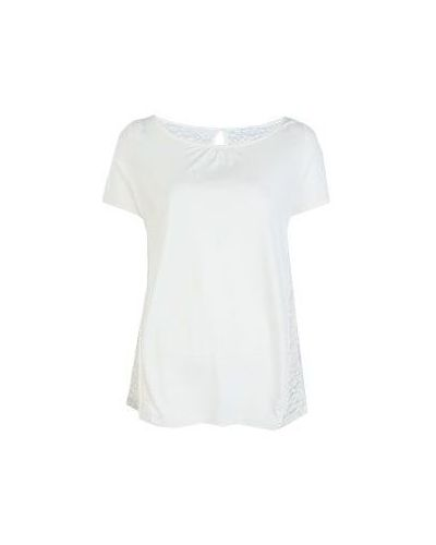Белая футболка из вискозы Patrizia Pepe