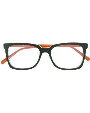 Очки для зрения хаки квадратные Marni Eyewear
