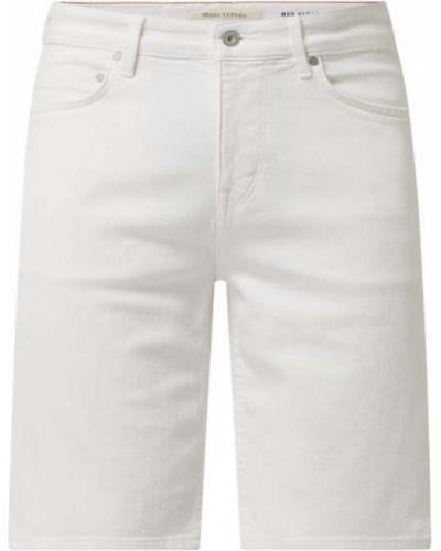 Białe bermudy bawełniane Marc O'polo