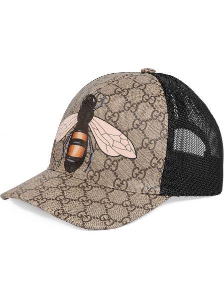 Beżowy klasyczny kapelusz materiałowy Gucci