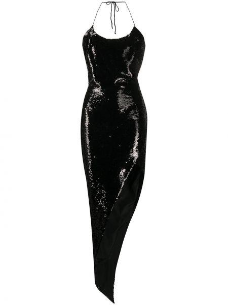 Платье миди с пайетками на бретелях Alexandre Vauthier
