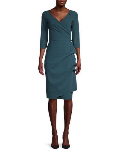 Плиссированное платье-футляр с V-образным вырезом с подкладкой Chiara Boni La Petite Robe