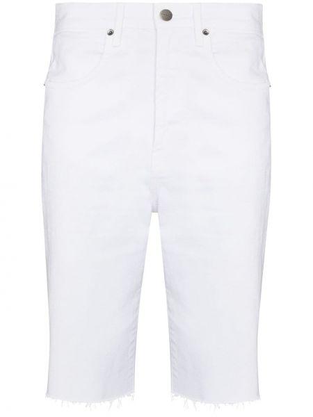 Джинсовые шорты классические - белые Frame