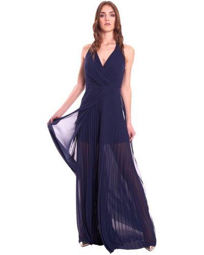 Niebieski garnitur elegancki bez rękawów Fabiana Ferri