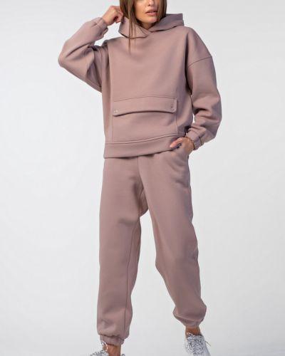 Свободный брючный костюм с начесом из футера Fly