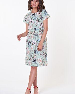 Летнее платье мини с цветочным принтом Valentina