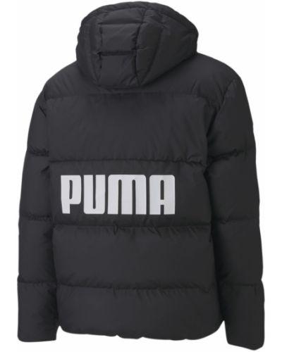 Брендовая пуховая черная спортивная куртка Puma