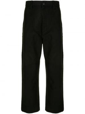 Свободные черные свободные брюки свободного кроя на пуговицах Junya Watanabe Man