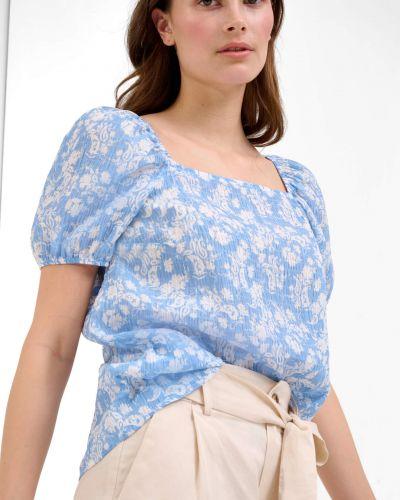 Niebieska bluzka materiałowa Orsay