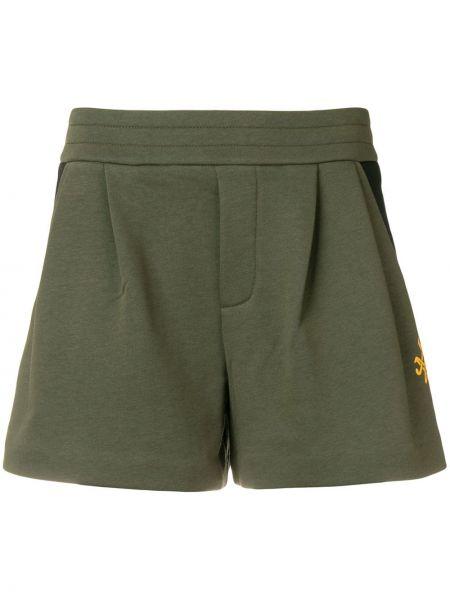 Хлопковые зеленые спортивные шорты с карманами Mr & Mrs Italy
