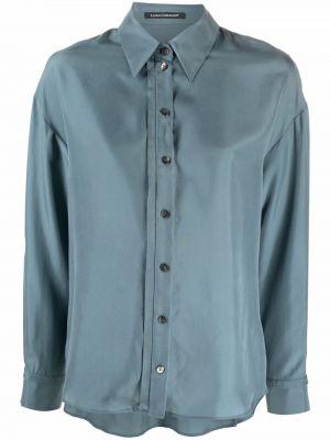 Синяя рубашка с воротником Luisa Cerano