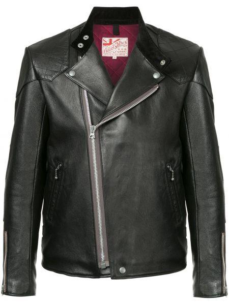 Кожаная черная кожаная куртка винтажная Addict Clothes Japan