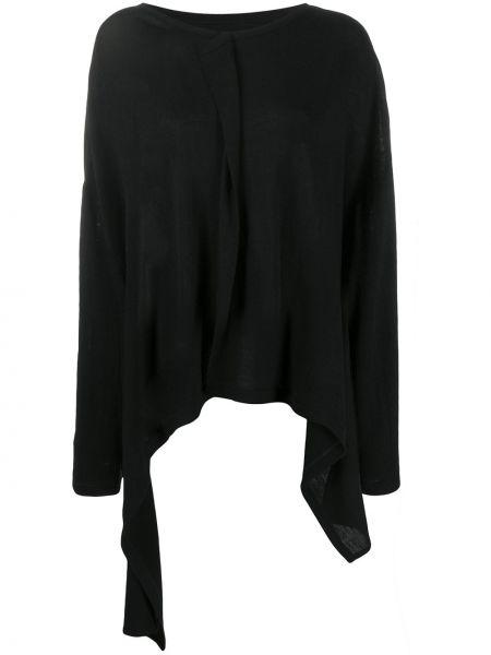 Топ с длинными рукавами - черный Yohji Yamamoto