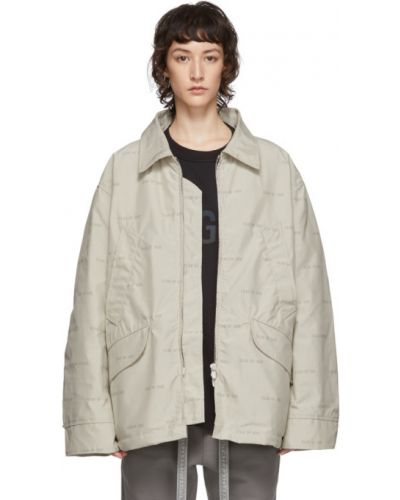 Z rękawami biały długa kurtka z mankietami z kieszeniami Fear Of God