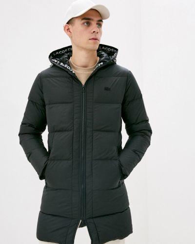 Черная утепленная куртка Lacoste