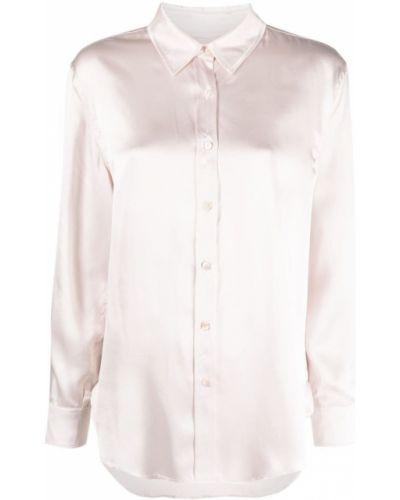 Розовая шелковая рубашка с длинными рукавами Lautre Chose