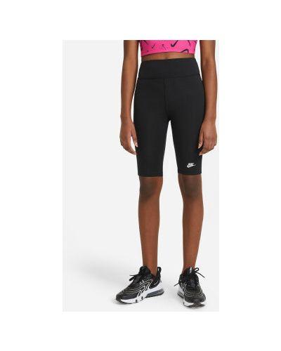 Облегающие хлопковые черные брюки Nike