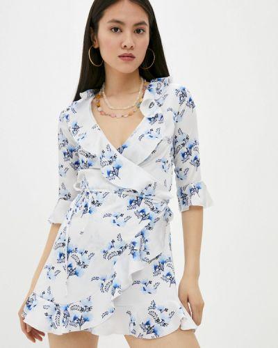 Белое платье с запахом Chiara Ferragni Collection