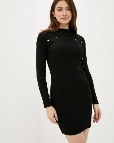 Ватное хлопковое черное вязаное платье Fresh Cotton