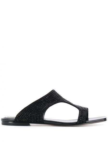 Sandały skórzany czarne Emilio Pucci