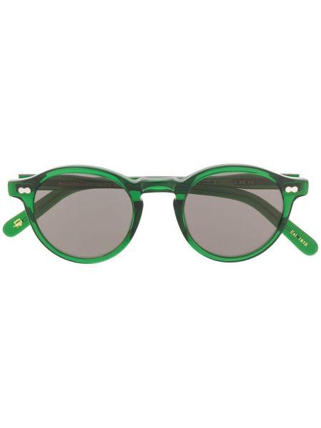 Zielony prosto oprawka do okularów okrągły Moscot