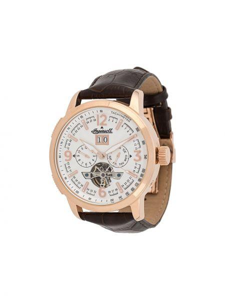 Brązowy zegarek na skórzanym pasku skórzany Ingersoll Watches