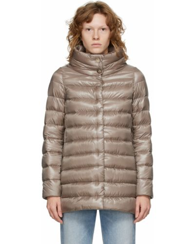 Пальто с карманами золотое Herno