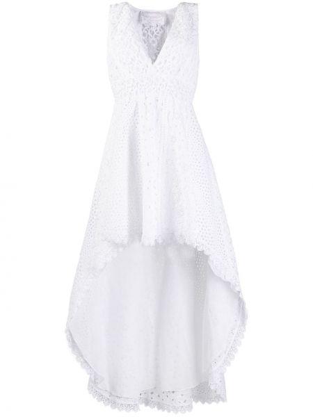 Асимметричное ажурное платье с вышивкой на молнии Temptation Positano