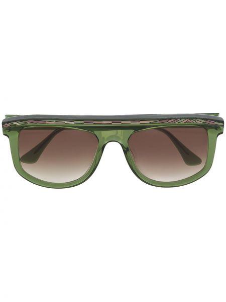 Солнцезащитные очки хаки оверсайз Thierry Lasry
