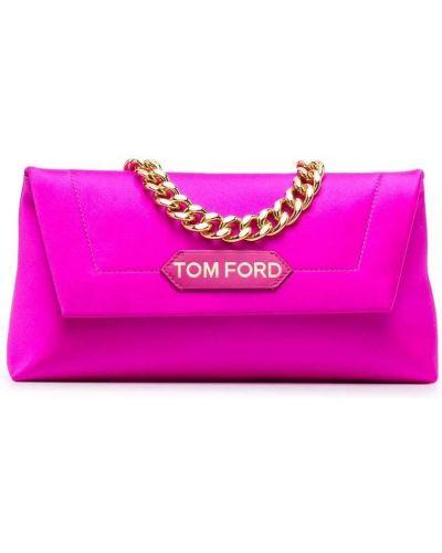 Złota kopertówka - różowa Tom Ford