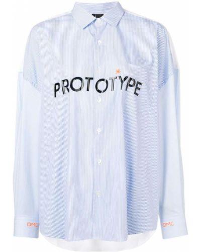 Синяя классическая рубашка Omc