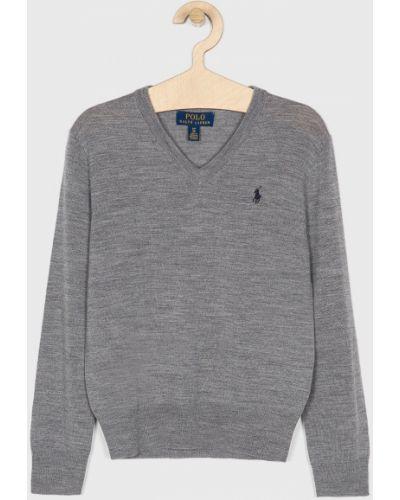 Szary sweter wełniany Polo Ralph Lauren