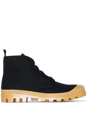 Кожаные ботинки - черные Gia Couture