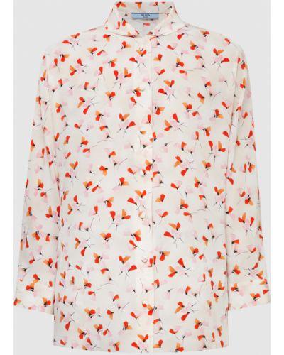 Бежевая шелковая блузка Prada