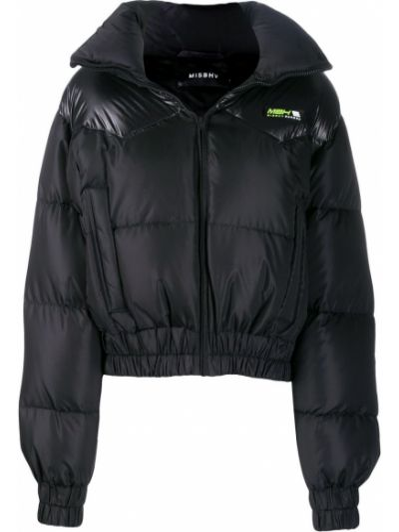 Czarna kurtka z kapturem z wiskozy Misbhv