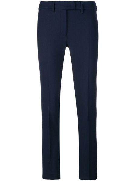 Темно-синие брюки с поясом узкого кроя Incotex