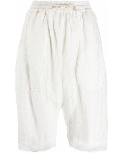 Однобортные белые шорты с карманами Kristensen Du Nord