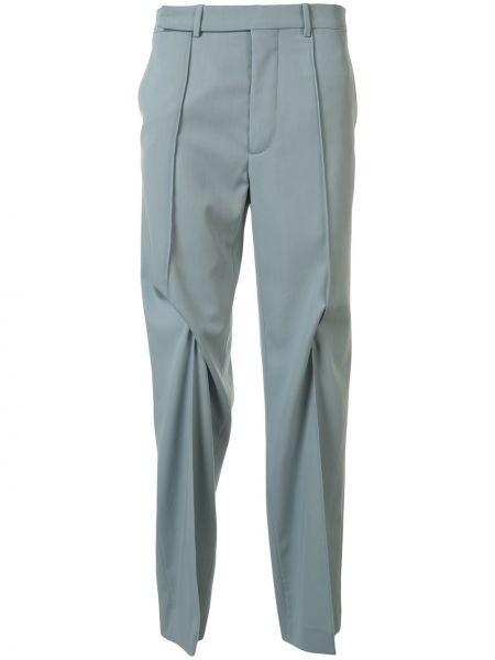 Шерстяные синие брюки с потайной застежкой Namacheko