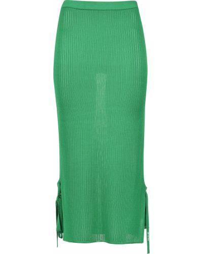 Юбка из вискозы зеленый Ice Play