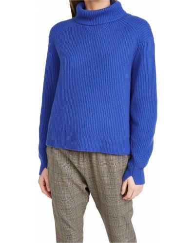 Niebieski z kaszmiru długi sweter z długimi rękawami Rag & Bone