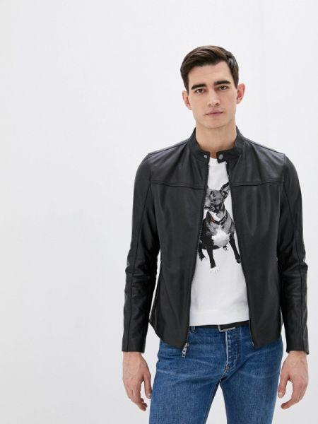Кожаная куртка - черная Michael Kors