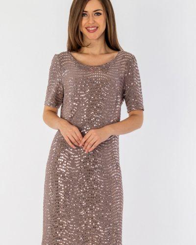 Платье миди осеннее бежевое S&a Style