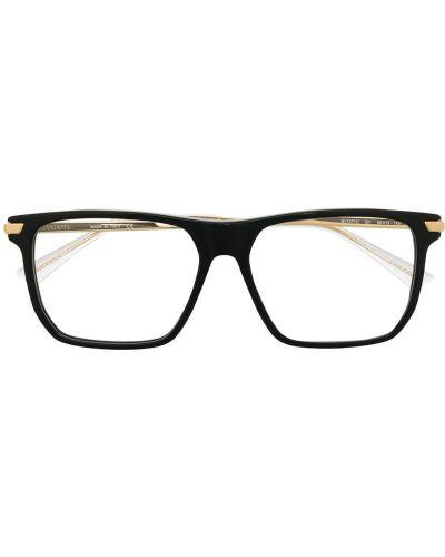 Черные очки металлические прозрачные Bottega Veneta Eyewear