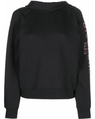 Bawełna bawełna czarny bluza z kapturem z kapturem Givenchy