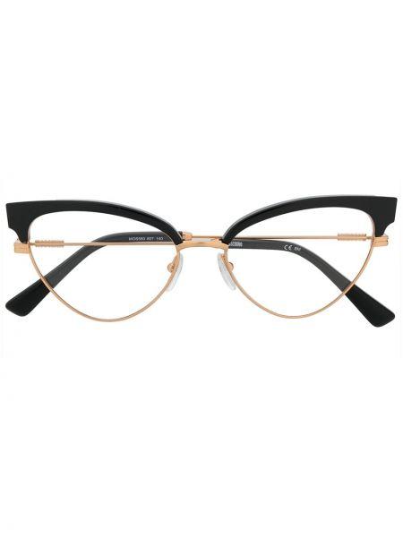 Желтые очки кошачий глаз металлические Moschino Eyewear