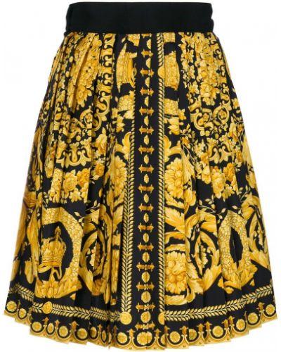Юбка мини винтажная шелковая Versace Vintage